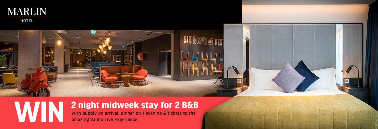 Win a 2 night break in the Marlin Hotel Dublin