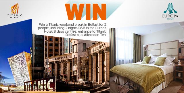 Win a weekend break in Belfast for 2 in Europa Hotel