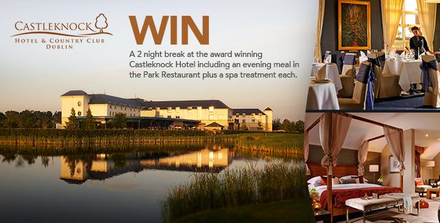 Win a 2 night stay at Castleknock Hotel, Dublin.