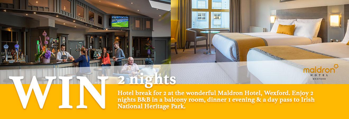 Win a 2 night hotel break in Wexford