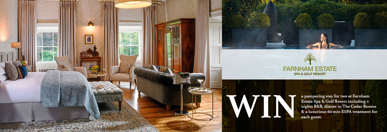 Win a 2 night stay at Farnham Estate, Cavan