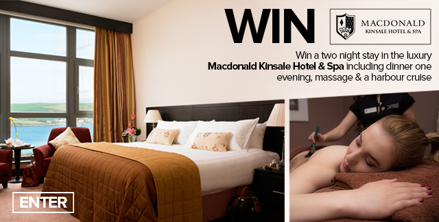 Win a two night stay in Macdonald Kinsale Hotel & Spa