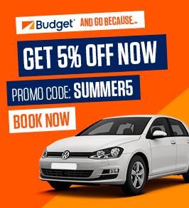 Get 5% off car rental with Budget Ireland