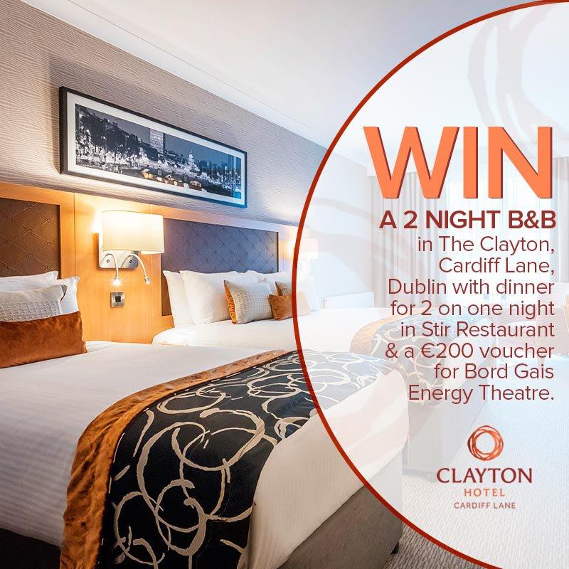 Win a 2 night theatre break in the Clayton Hotel, Cardiff Lane