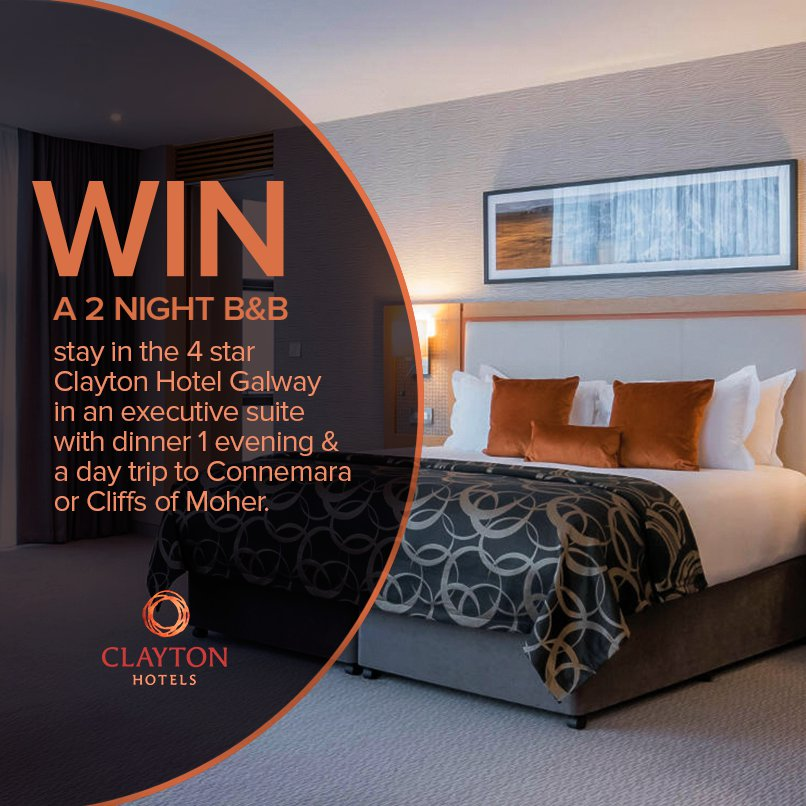 Win a 2 night city break to the Clayton Hotel, Galway